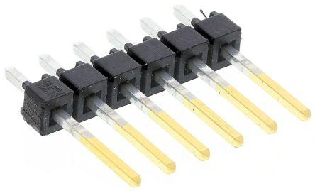 Samtec , TSW, 6 Way, 1 Row, Straight Pin Header