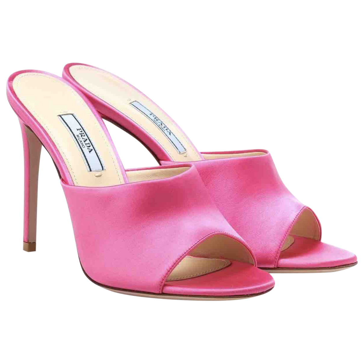 Prada \N Clogs in  Rosa Polyester