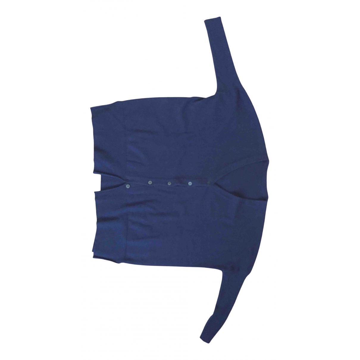 Non Signé / Unsigned Kimono Blue Cashmere Knitwear for Women 42 IT