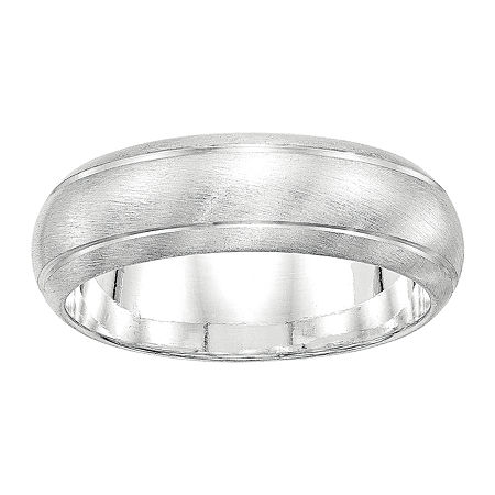 Personalized 7MM Sterling Silver Wedding Band, 11 , No Color Family