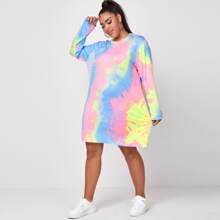 T-Shirt Kleid mit Batik
