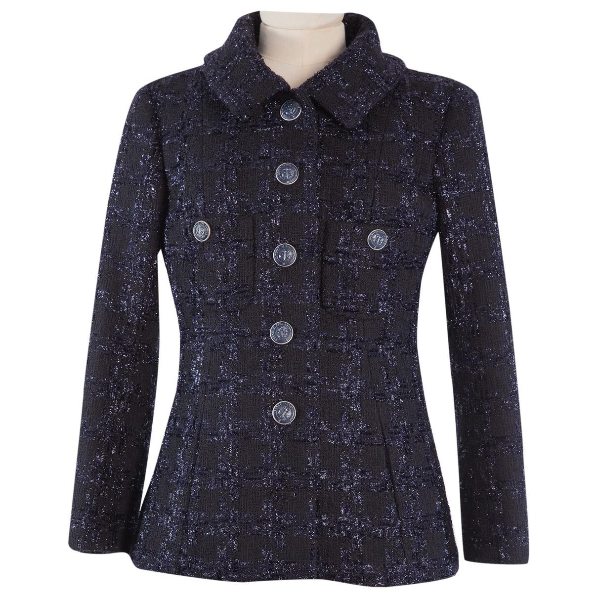 Chanel - Veste   pour femme en tweed - bleu