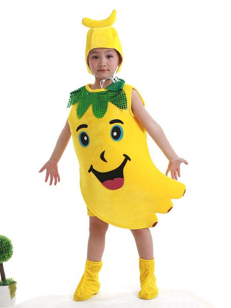 Milanoo Halloween Food Costume Banana Kid Cosplay Costume