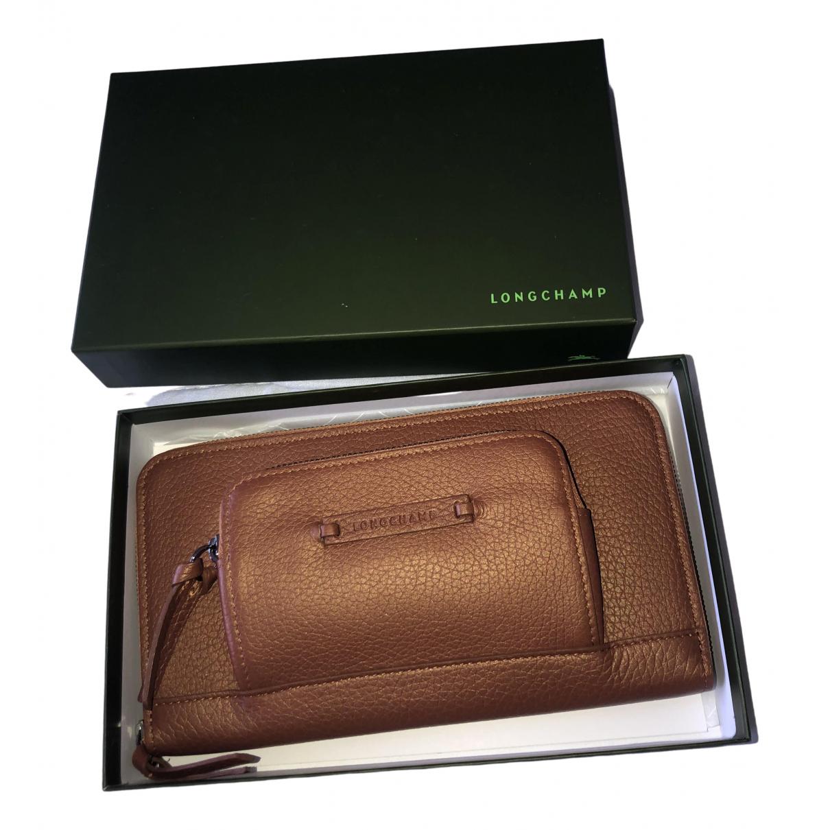 Longchamp \N Portemonnaie in  Braun Leder