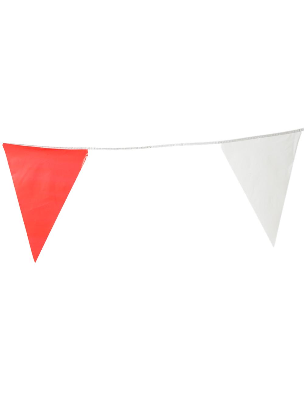 Wimpelkette rot/weiss 10m
