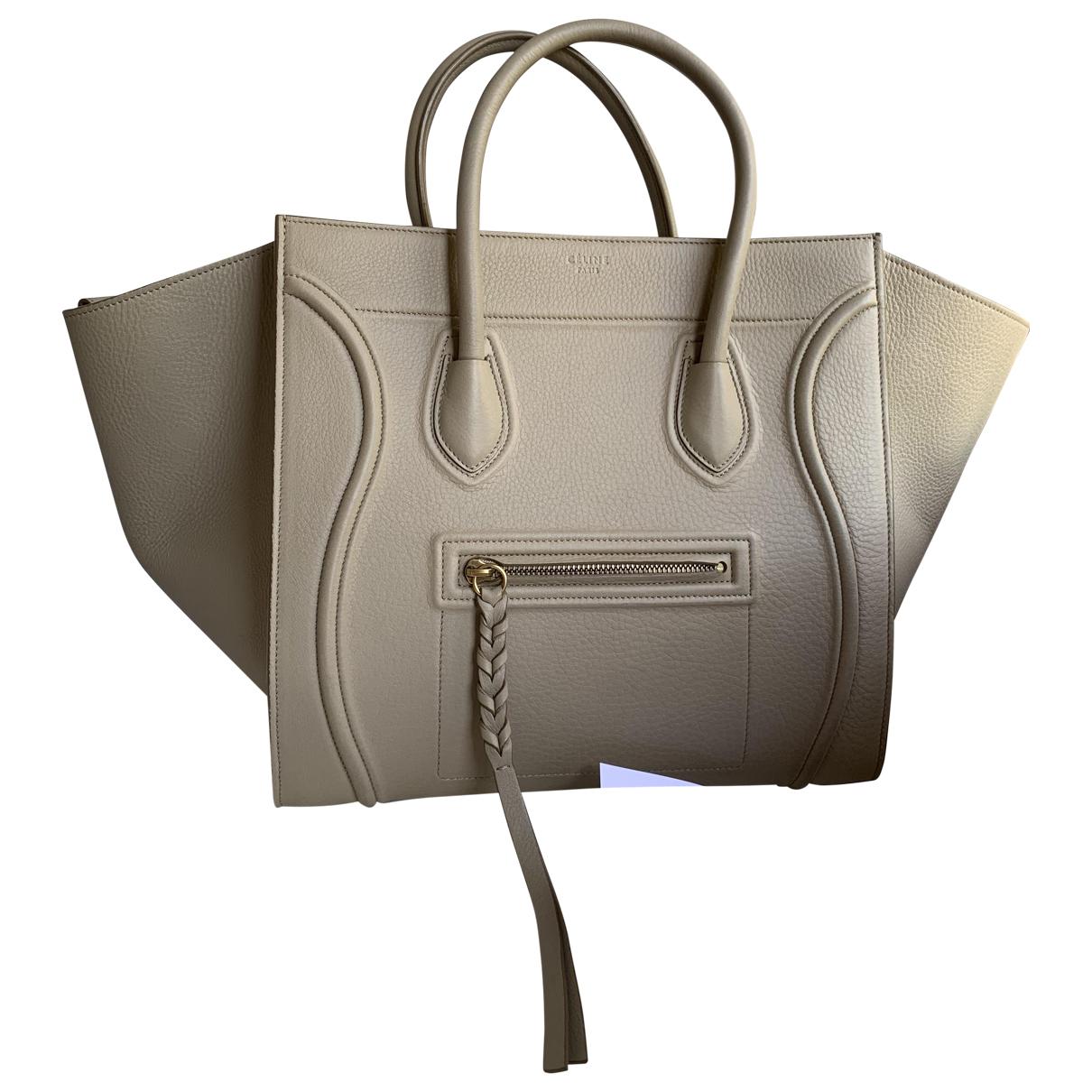 Bolso  Luggage Phantom de Cuero Celine