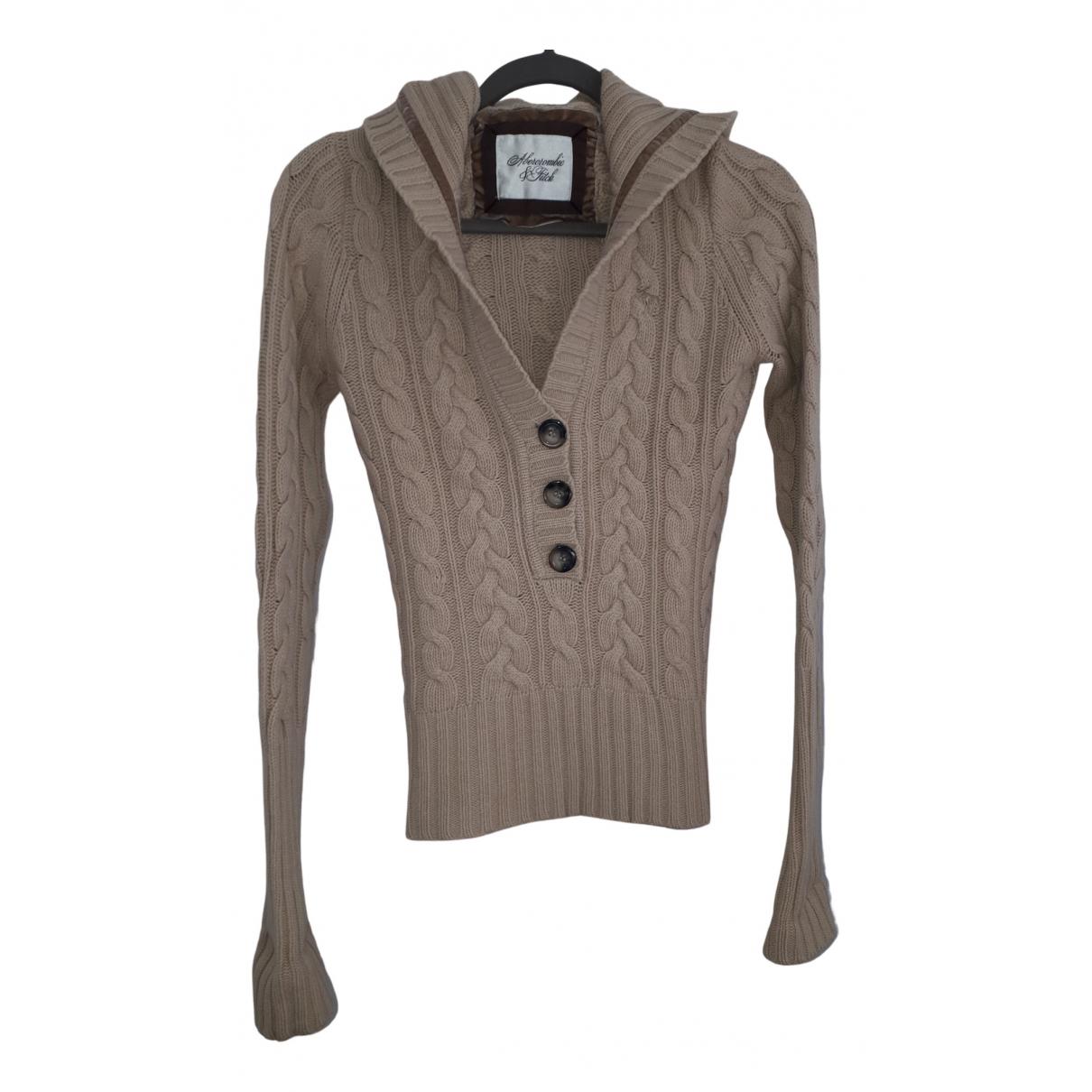 Abercrombie & Fitch N Beige Cotton Knitwear for Women 40 IT