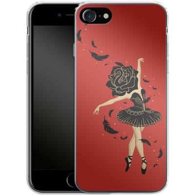 Apple iPhone 7 Silikon Handyhuelle - Black Swan von Enkel Dika