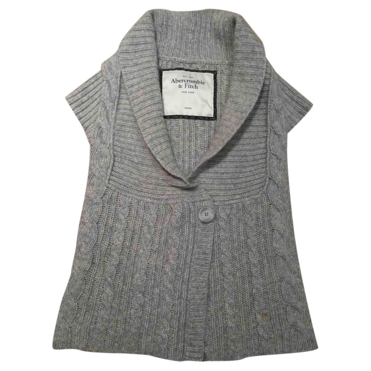 Abercrombie & Fitch - Pull   pour femme en laine - gris