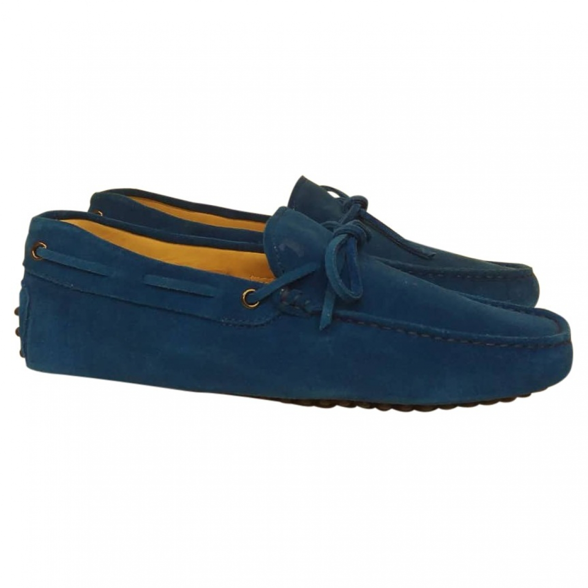 Tod's \N Blue Suede Flats for Men 6 UK