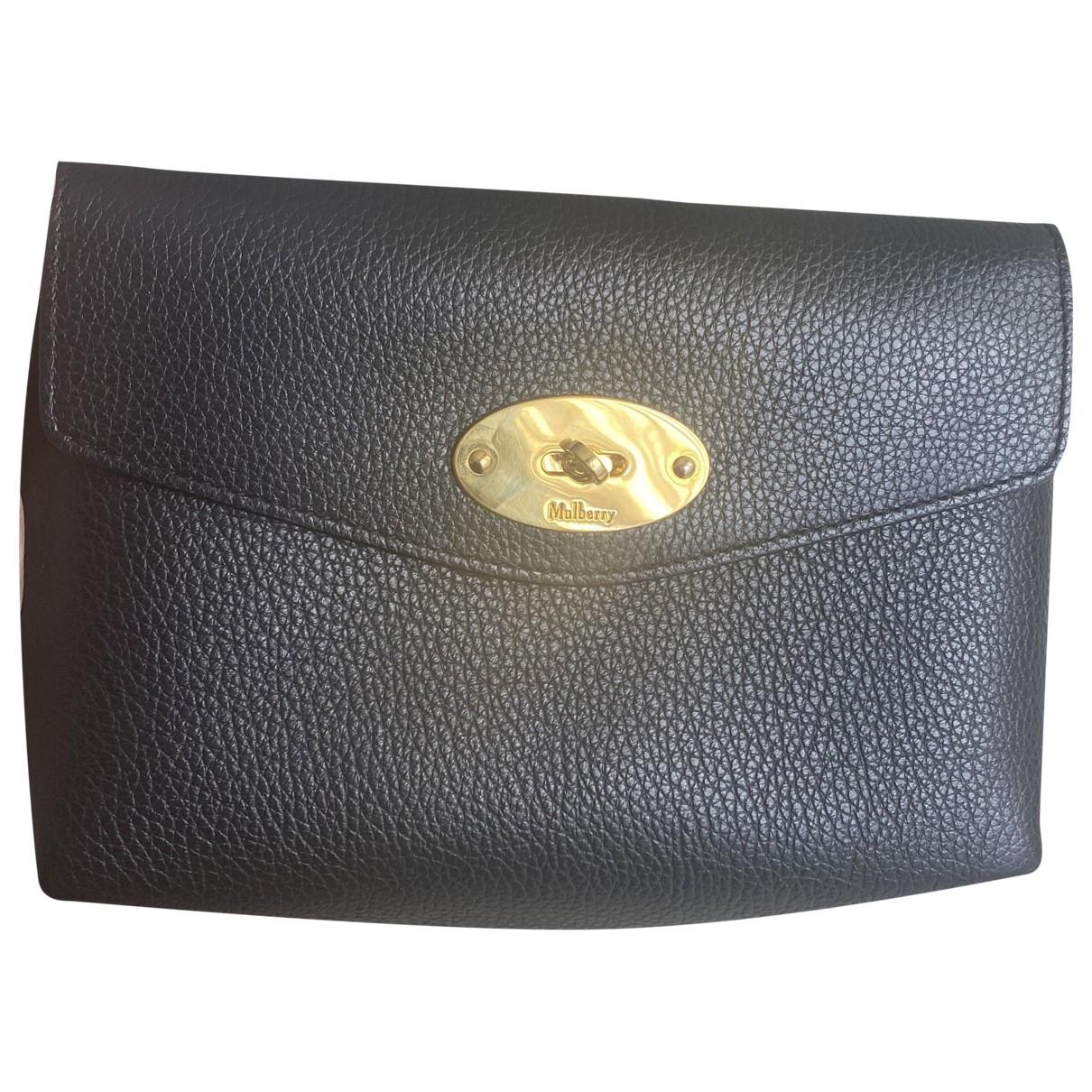 Mulberry \N Black Leather Clutch bag for Women \N