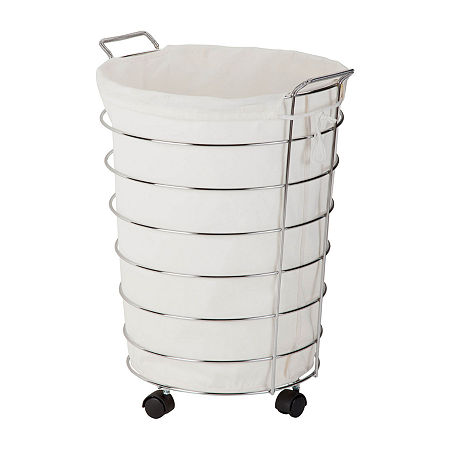 Honey-Can-Do Hamper, One Size , White
