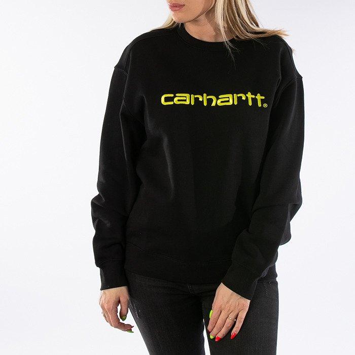 Carhartt WIP W Sweatshirt I027475 BLACK/LIME