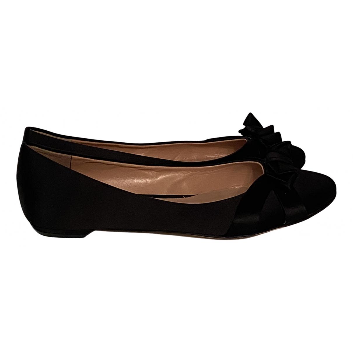 Gianmarco Lorenzi N Black Cloth Ballet flats for Women 38.5 EU