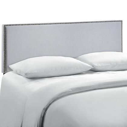 MOD-5215-GRY Region Queen Nailhead Upholstered Headboard in Sky Gray
