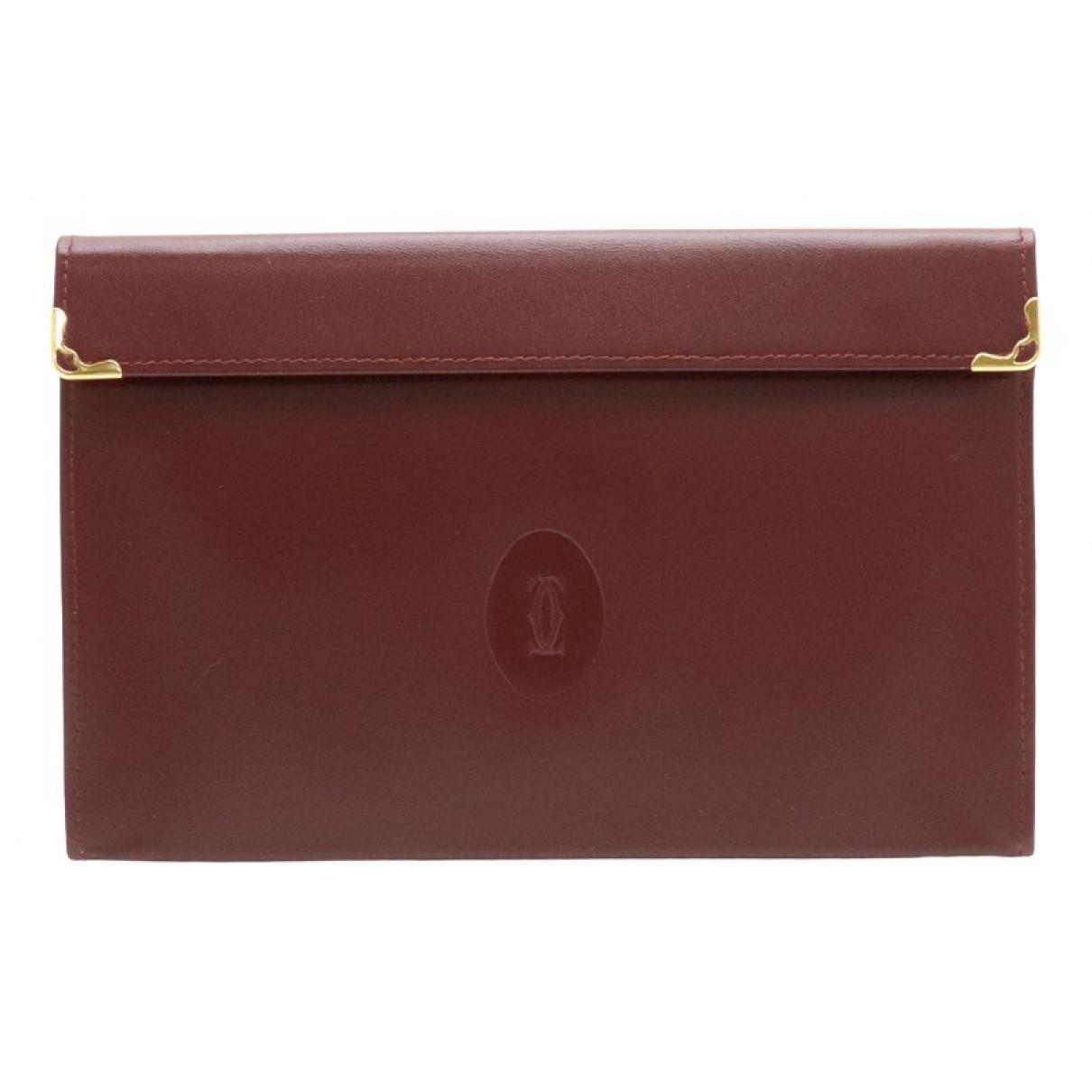 Cartier \N Burgundy Leather Clutch bag for Women \N