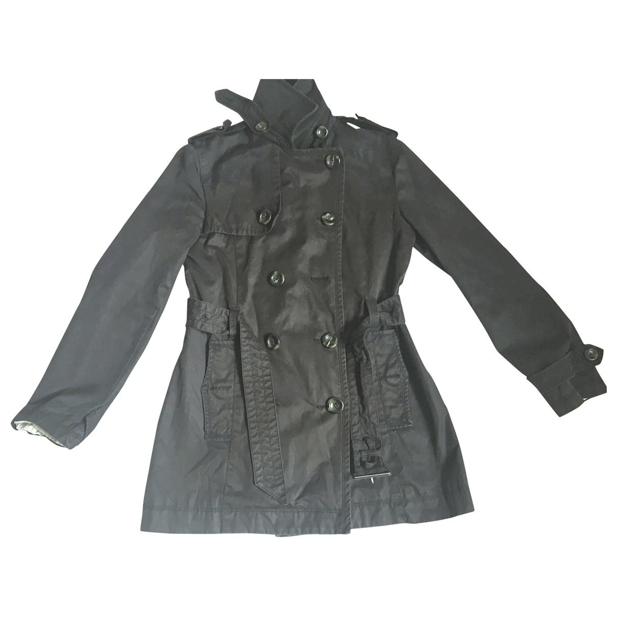 Massimo Dutti \N Black Cotton Trench coat for Women M International