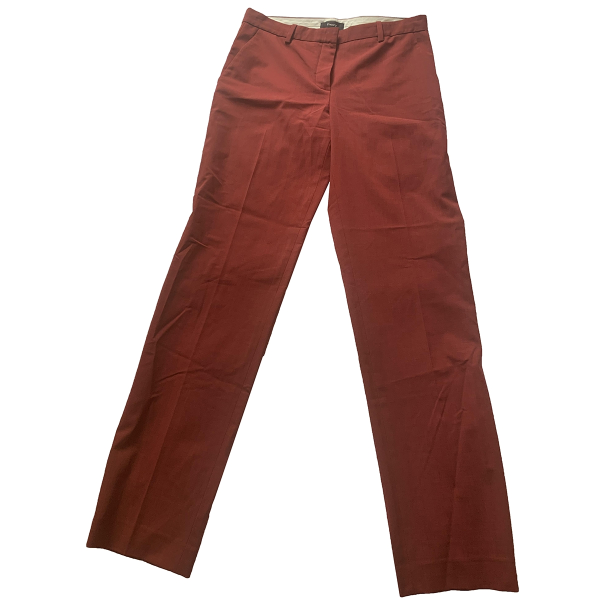 Theory \N Red Wool Trousers for Women 2 US