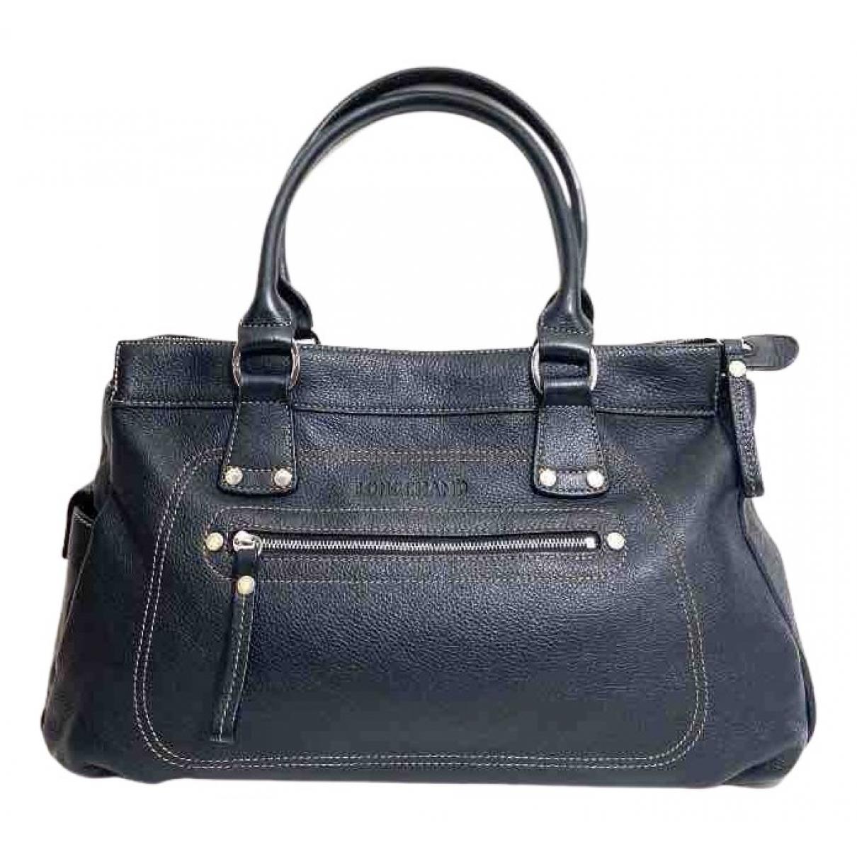 Longchamp Legende Handtasche in  Schwarz Leder