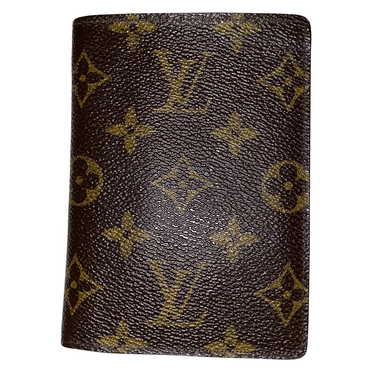 Louis Vuitton - Petite maroquinerie   pour homme en toile - marron