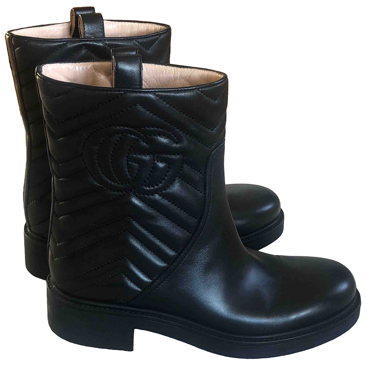 Gucci \N Black Leather Boots for Women 39 EU