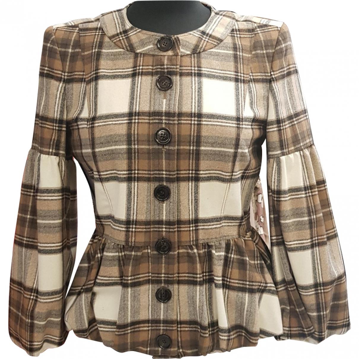 Burberry \N Beige Wool jacket for Women 44 IT