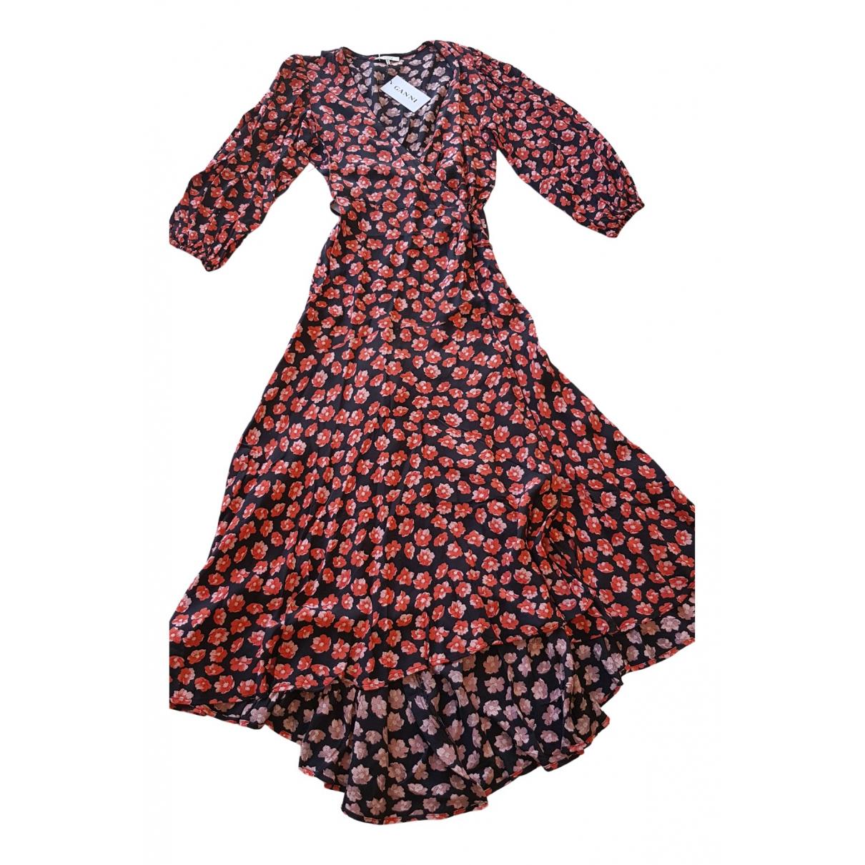 Ganni \N Kleid in  Rot Synthetik