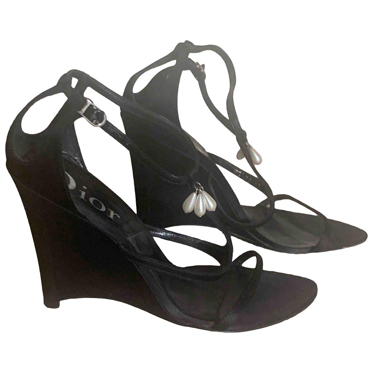 Dior \N Sandalen in  Schwarz Leinen