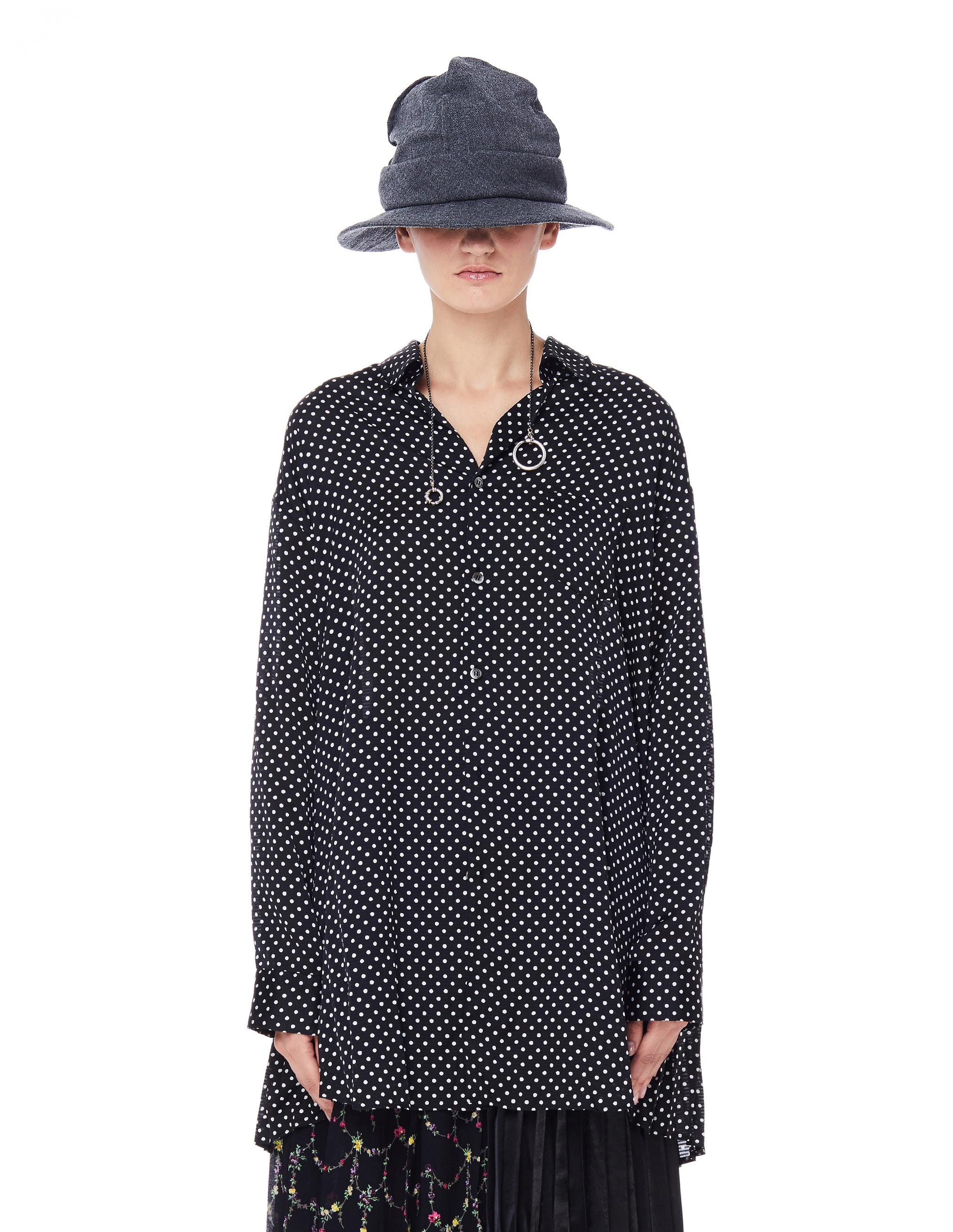 Junya Watanabe Black Polka Dot Printed Shirt