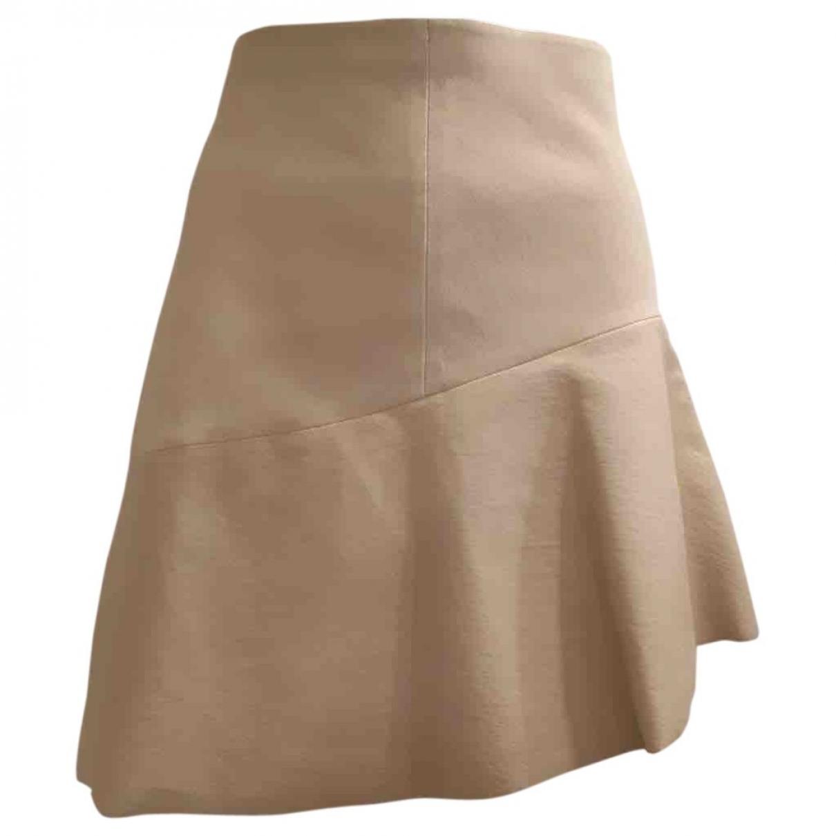Brunello Cucinelli \N Beige Leather skirt for Women 42 IT