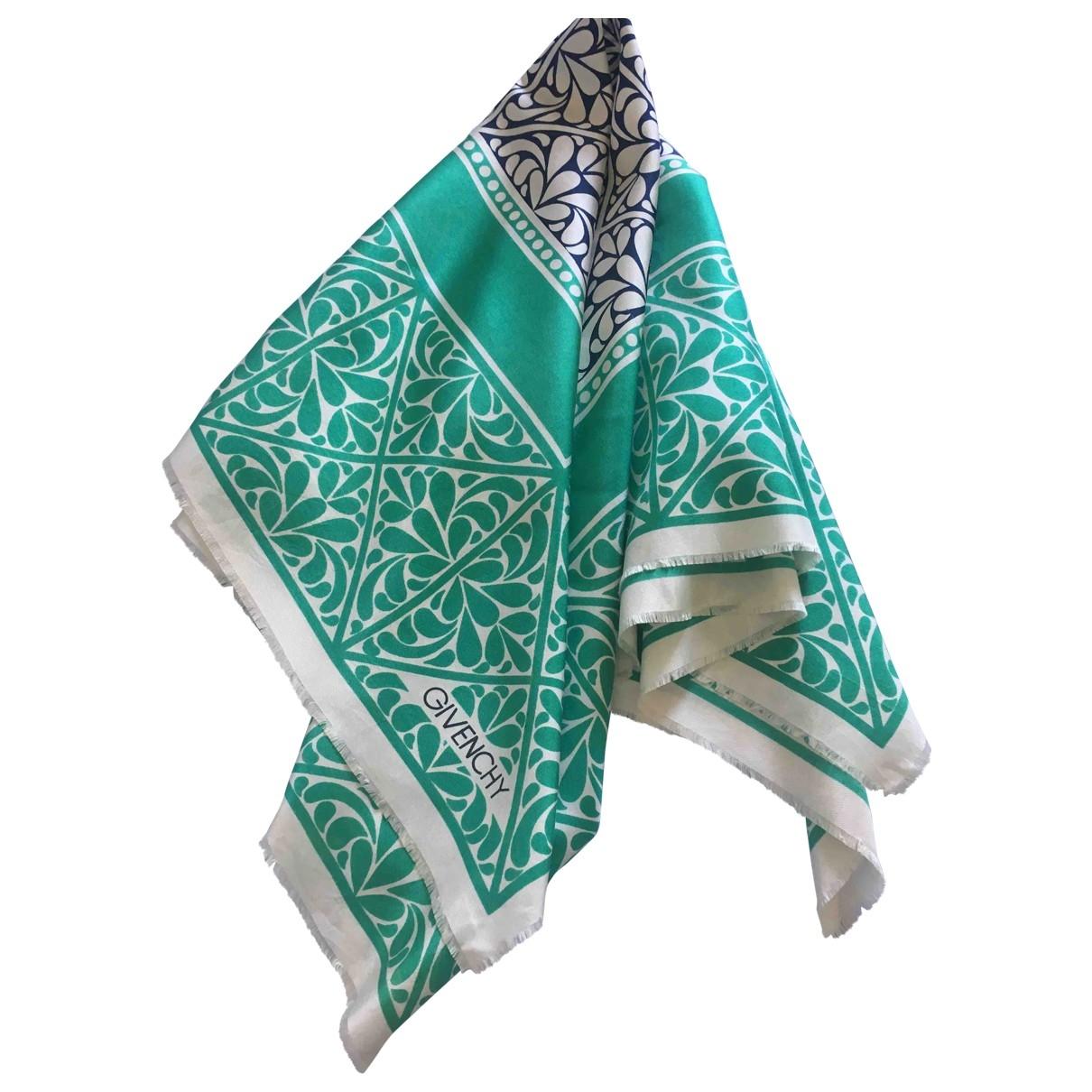 Givenchy \N Green Silk scarf for Women \N