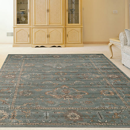 Colosseo Bethany Traditional Oriental Vintage Area Rug, One Size , Green