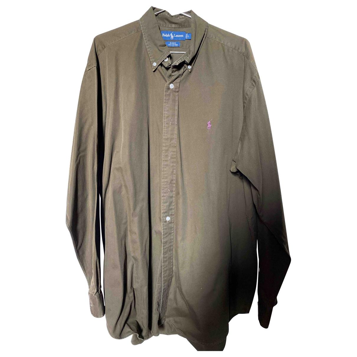 Ralph Lauren \N Khaki Cotton Shirts for Men L International