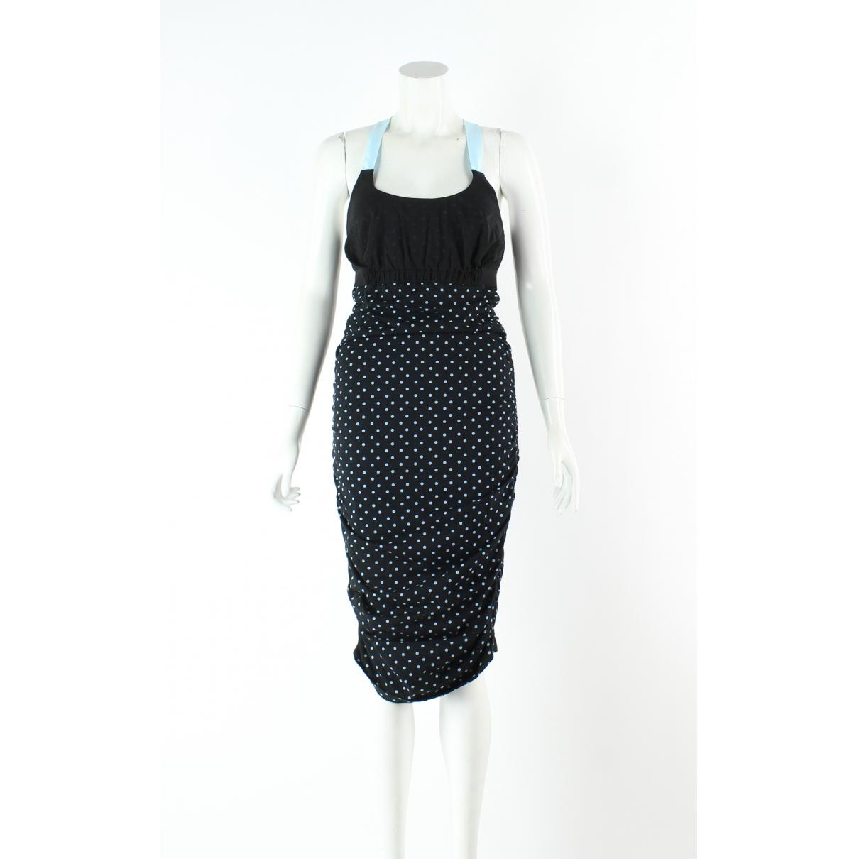 Autre Marque \N Kleid in  Schwarz Baumwolle - Elasthan