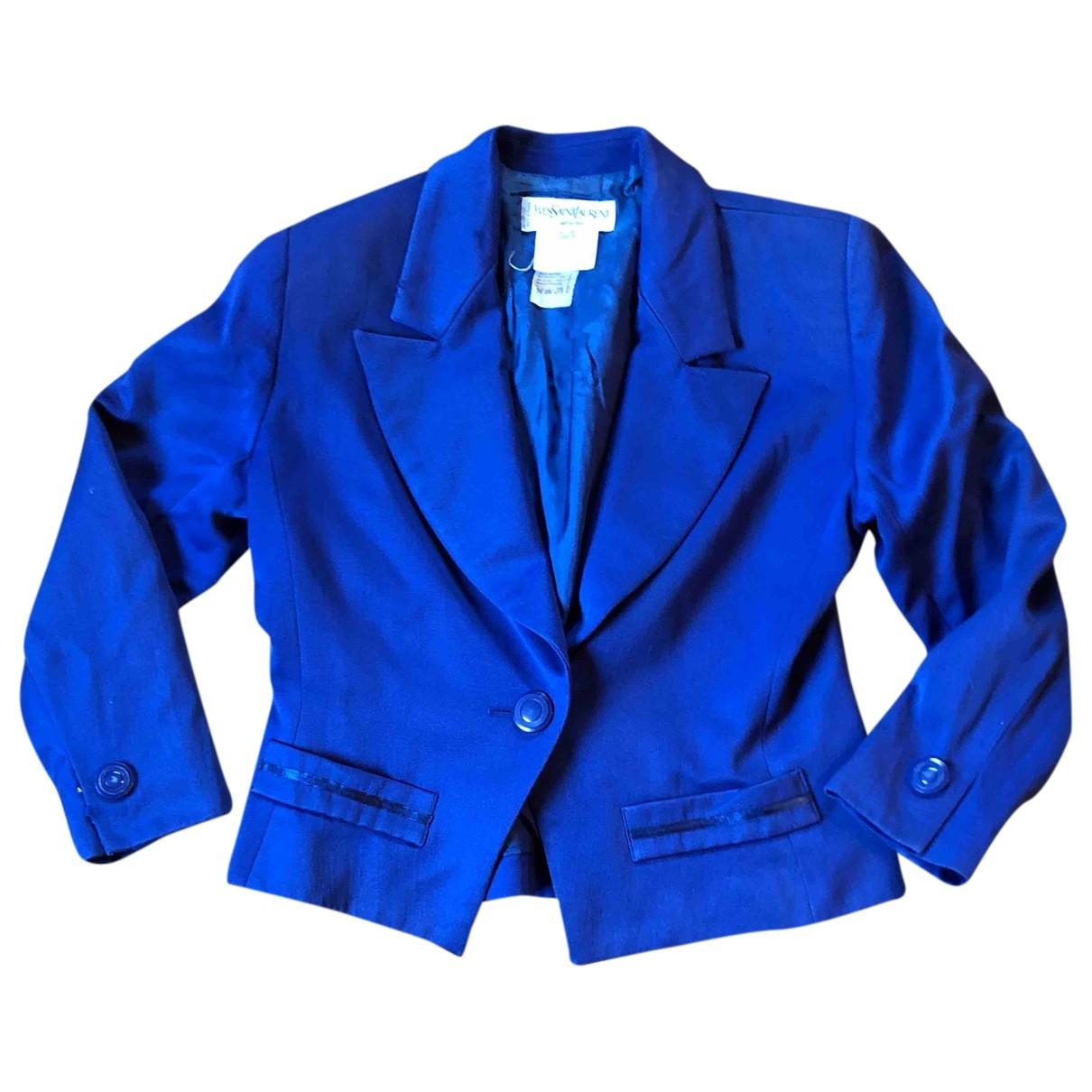 Yves Saint Laurent - Veste   pour femme en laine - bleu