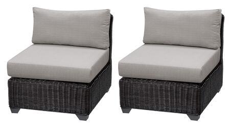 TKC050b-AS-DB-ASH Venice Armless Chair 2 Per Box - Wheat and Ash