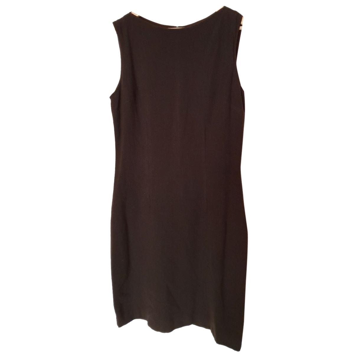 Yves Saint Laurent \N Kleid in  Braun Wolle