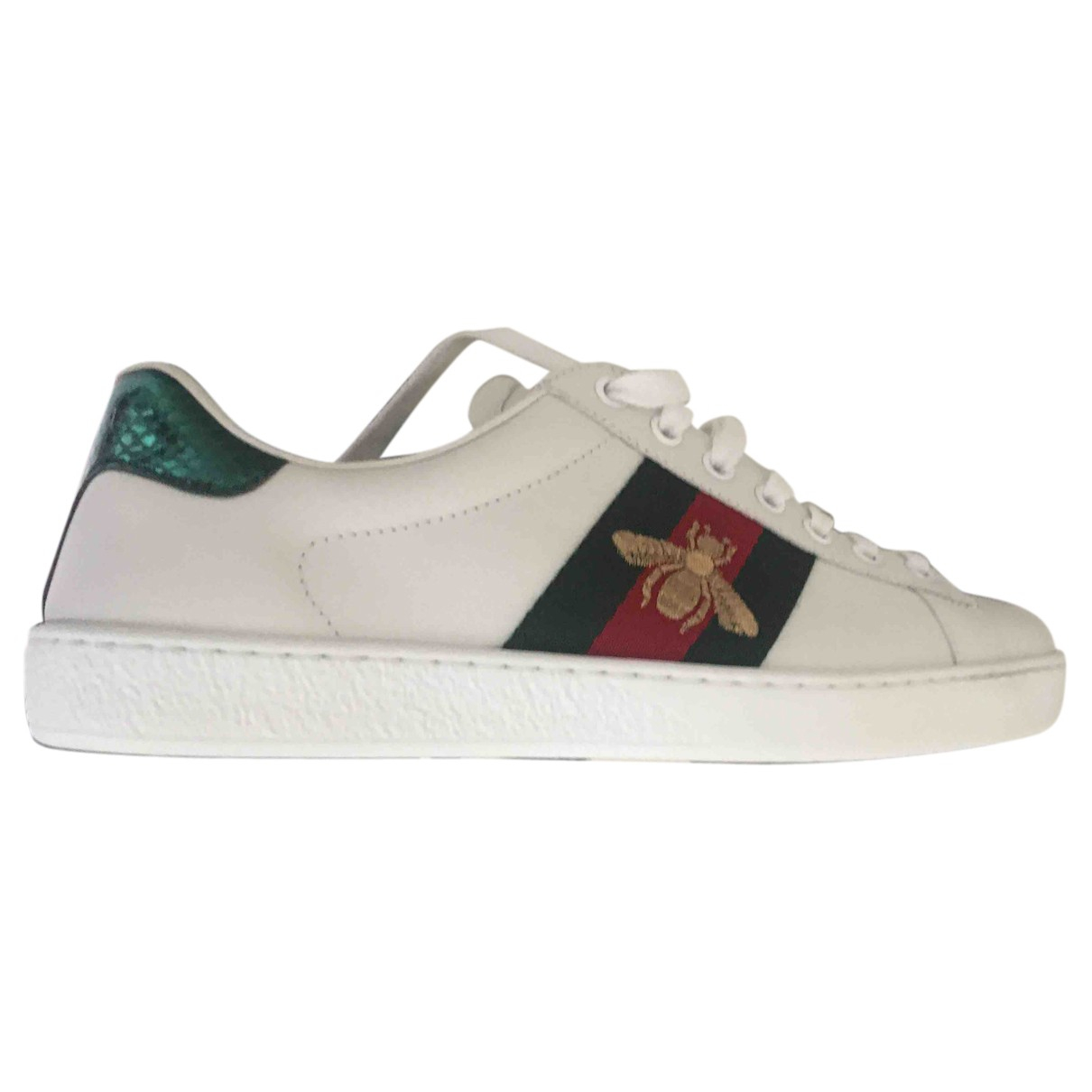 Gucci Ace White Leather Trainers for Men 40 EU