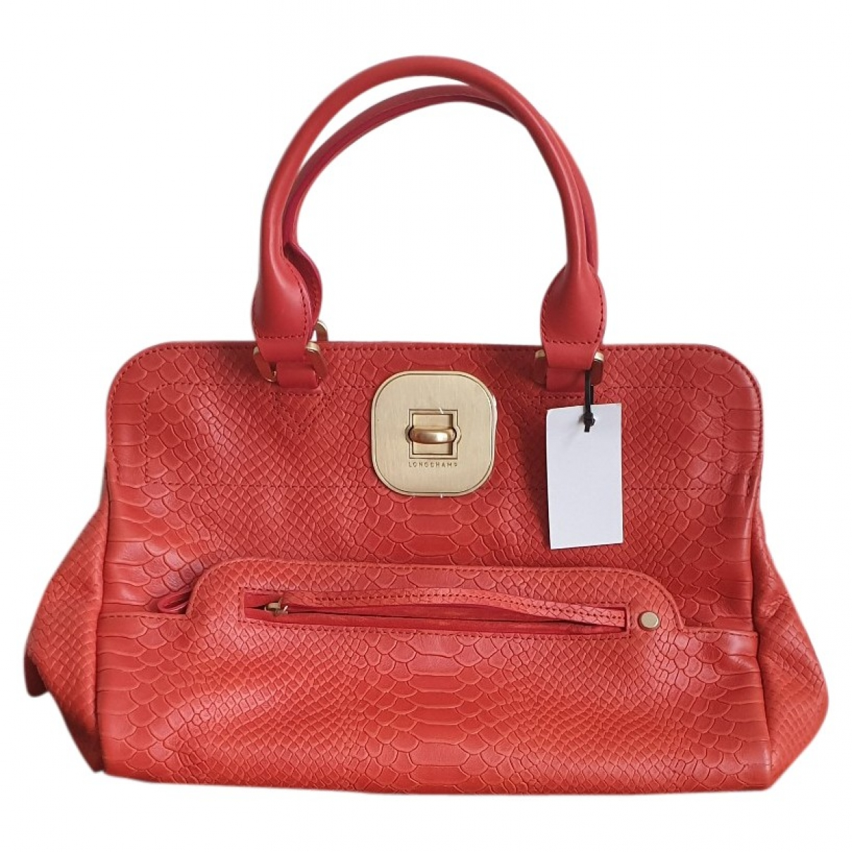 Longchamp Gatsby Orange Leather handbag for Women \N