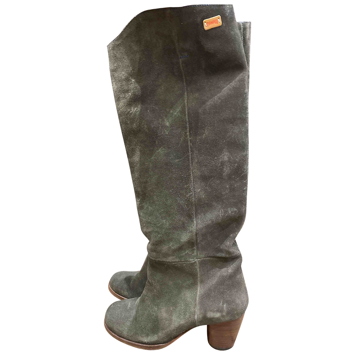 Camper \N Khaki Suede Boots for Women 37 EU
