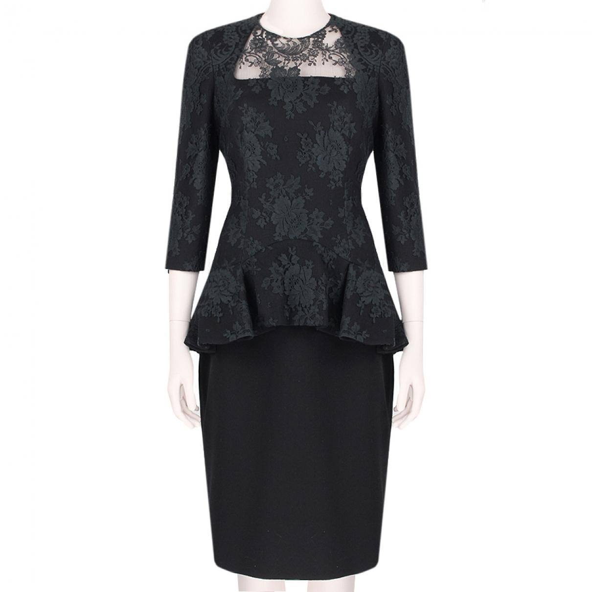 Alexander Mcqueen \N Black Cotton dress for Women 44 IT