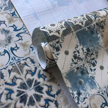 1 rollo pegatina de azulejo con dibujo