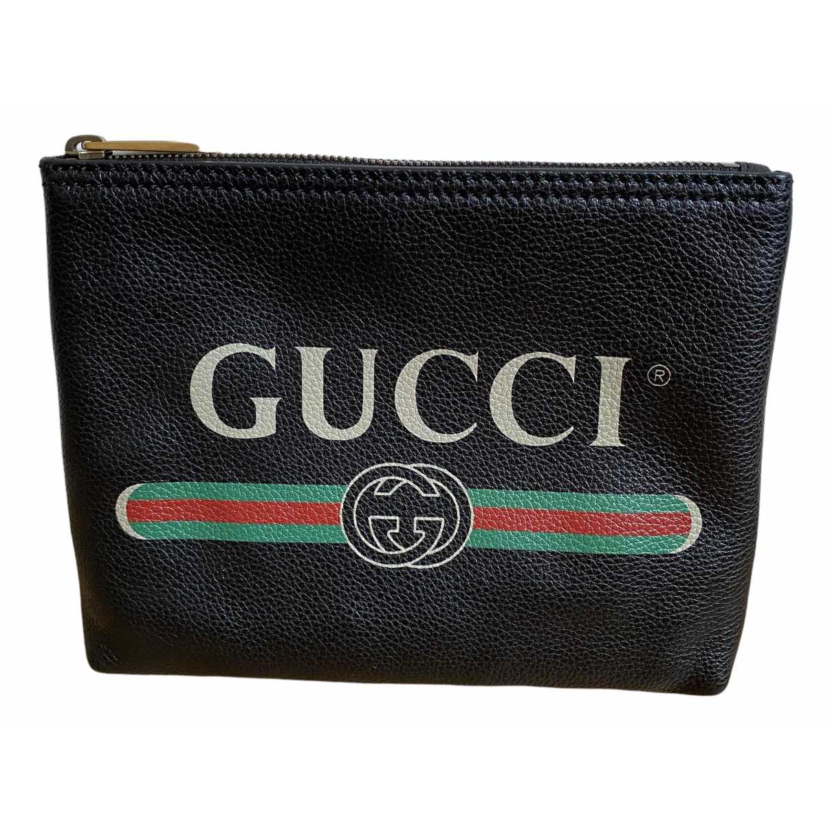 Gucci Coco capitan Clutch in  Schwarz Leder