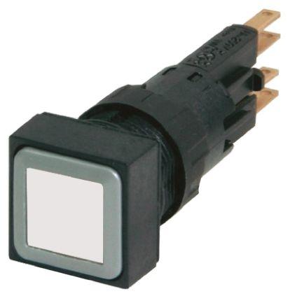 Eaton , RMQ16 Non-illuminated White Square Push Button, 16mm Momentary Push In