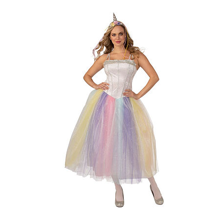 Unicorn Adult Costume Womens Costume, Large , White