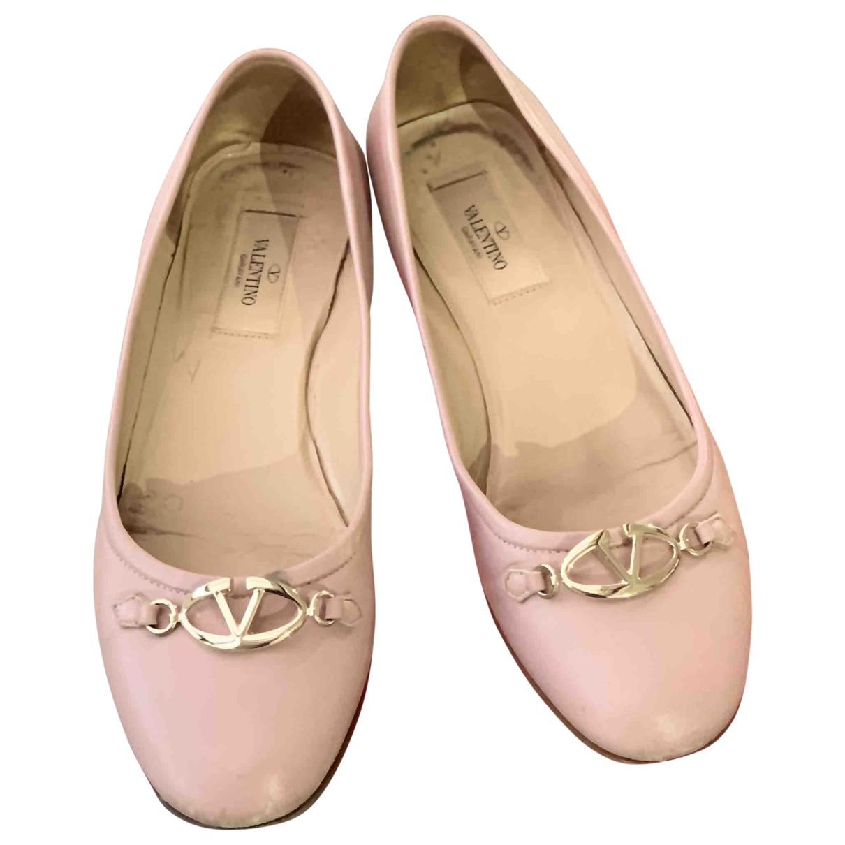 Valentino Garavani \N Ballerinas in  Rosa Leder