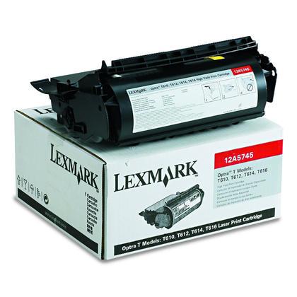 Lexmark 12A5745 12A5845 cartouche de toner originale noire haute capacité