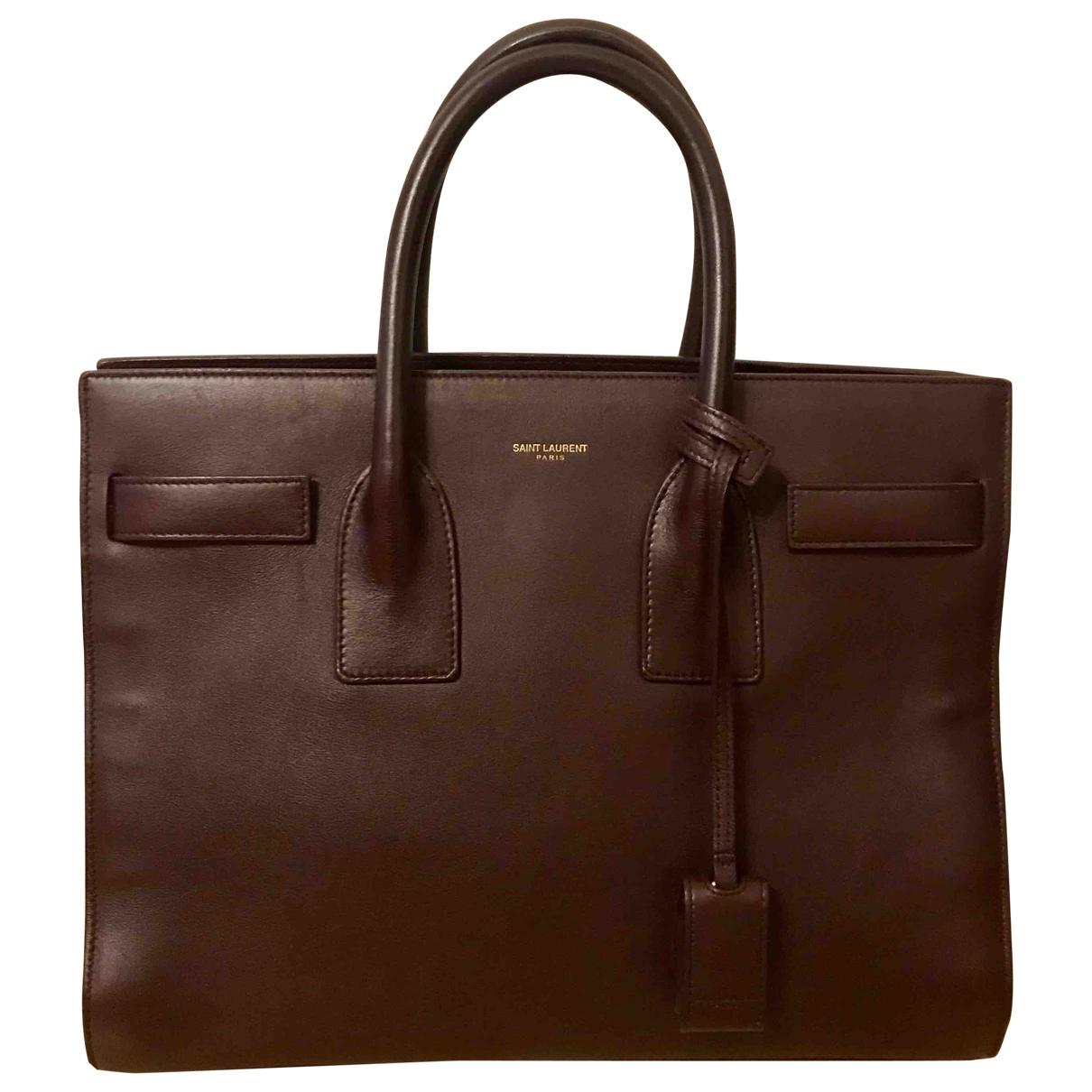 Saint Laurent Sac de Jour Red Leather handbag for Women \N