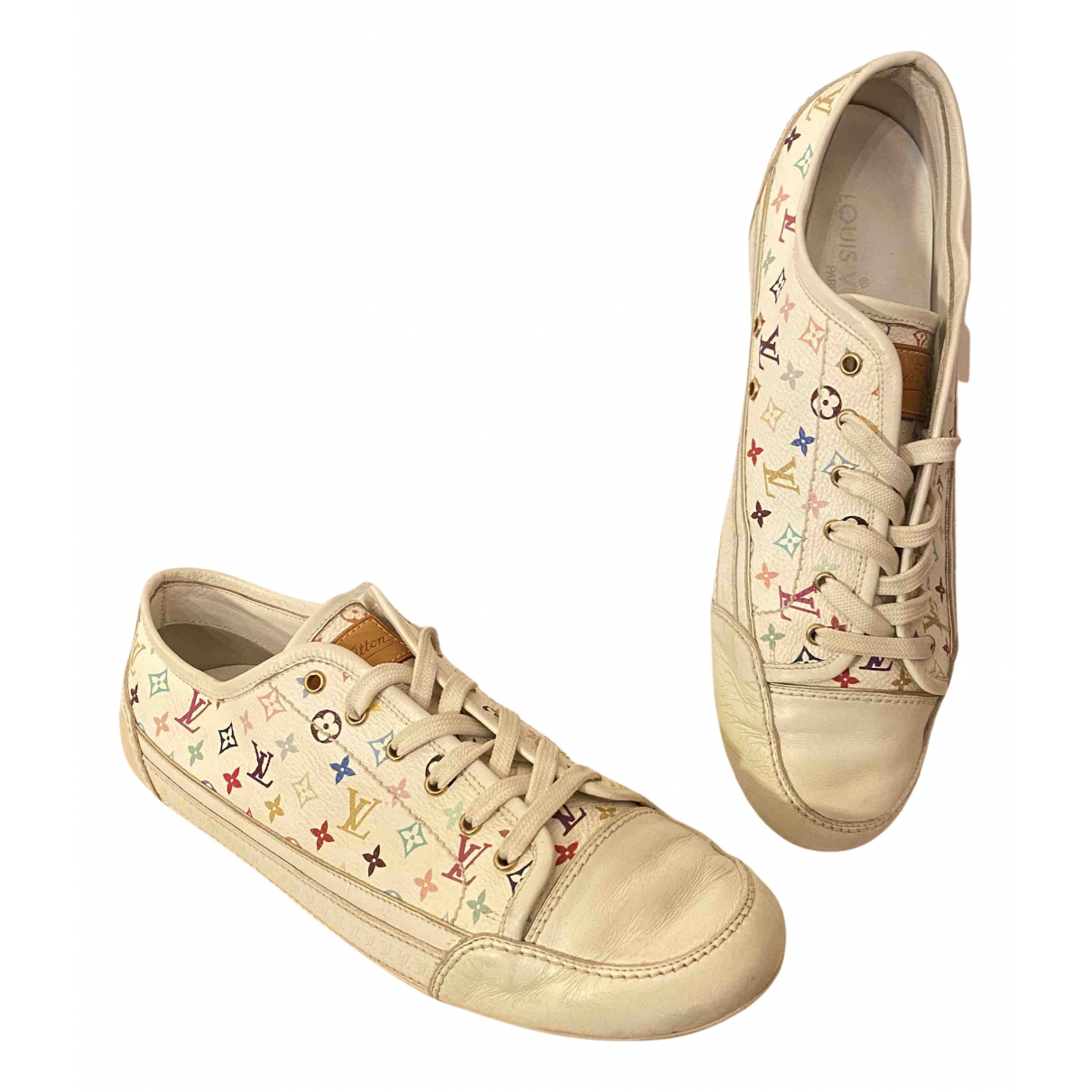 Louis Vuitton \N White Leather Trainers for Women 38.5 IT