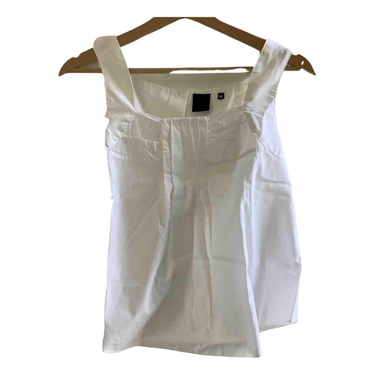 Aspesi - Top   pour femme en coton - blanc